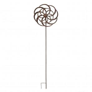 Kovový zápich 33x17x144cm ornament