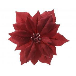 Umělá vánoční hvězda červená