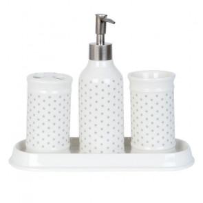 Koupelnová keramická sada, hvězdičky