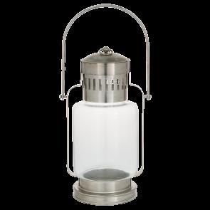 Stříbrná lucerna vysoká, kovová
