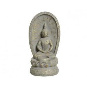 Buddha cementový dekorace na svíčku