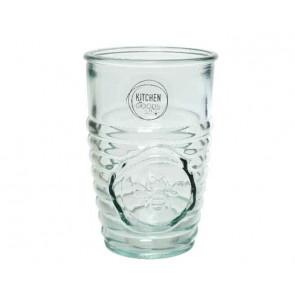 Pohárik z číreho recyklovaného skla