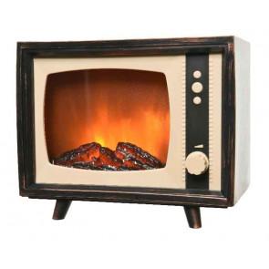 Dekorace televize s LED osvětlením