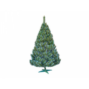 Stromek BOROVICE umělý vánoční s bílými konci + stojan 160cm