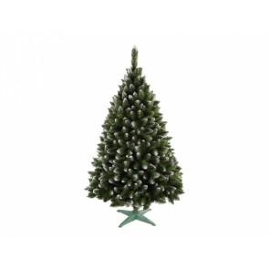 Stromek JEDLE umělý vánoční s bílými konci + stojan 180cm