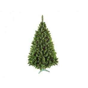Stromek vánoční JEDLE se zelenými konci 160cm + stojan