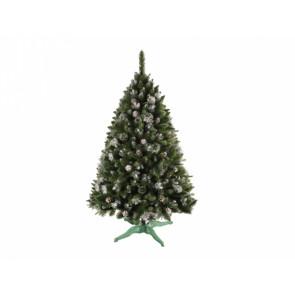 Stromek umělý vánoční se šiškami + stojan 160cm
