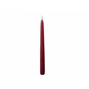 Svíčka CLASSIC KONICKA 24cm/2ks matná bordo