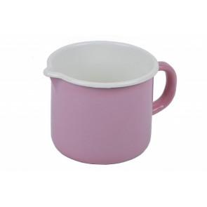 Hrnek růžový kovový s výlevkou