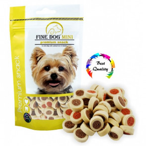 AKCE FINE DOG MINI Kroužky soft Mix 100g