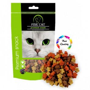 FINE CAT snacks hvězdičky mix 100g