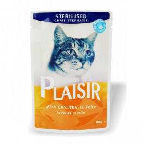 PLAISIR CAT Plaisir Cat Sterilised Kuřecí 100g