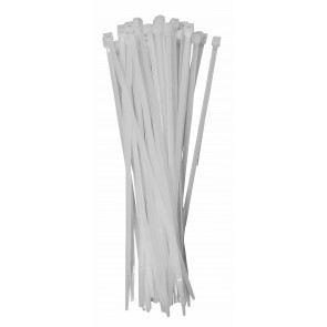 Káblové pásky bílá 250mm 50Ks