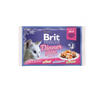 Brit Premium Cat Delicate Fillets in Jelly Dinner Plate 340g