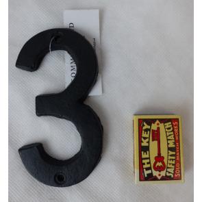 Domovní číslo litinové černé - 3