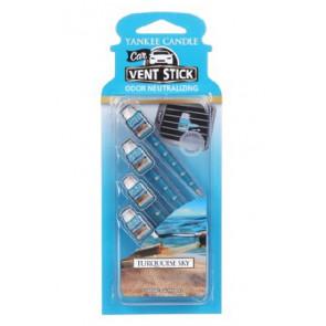 YANKEE CANDLE kolíčky do auta - Turquoise Sky 4ks