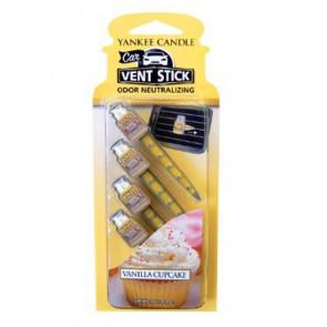 YANKEE CANDLE kolíčky do auta - Vanilla Cupcake 4ks