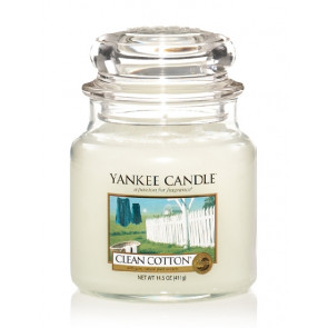 YANKEE CANDLE Classic střední - Clean cotton 411g