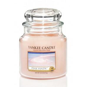 YANKEE CANDLE Classic střední - Pink Sands 411g