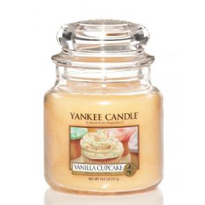 YANKEE CANDLE Classic střední - Vanilla Cupcake 411g