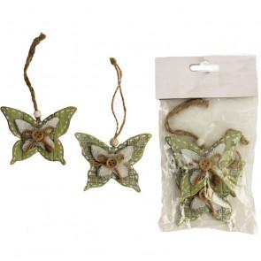 Motýl zelený, 2 ks