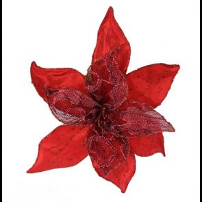 Dekorační květ 20cm červený