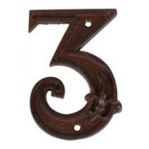 Domovní číslo litina - 3