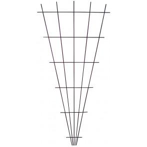 Zahradnická mřížka vějířovitá 750x1500mm hnědá