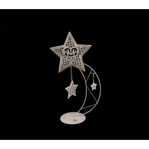 Svícen na čajovou svíčku - hvězda