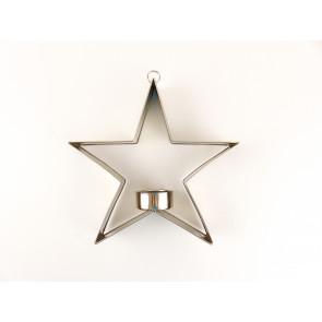 Svícen hvězda na zavěšení - stříbrná