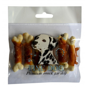 FINE DOG Bone with chicken 6ks