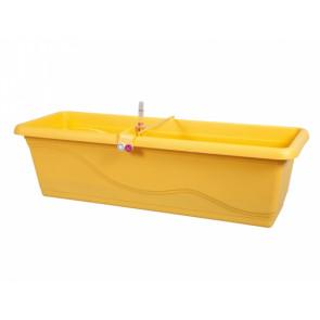 Truhlík samozavlažovací EXTRA LINE SMART 40cm žlutý