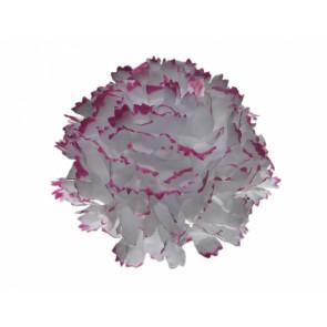 Karafiát 9cm bíločervená