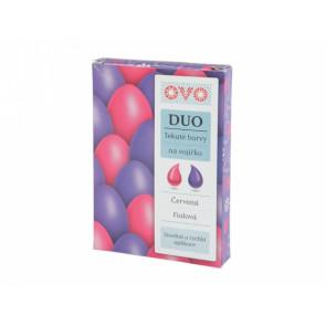 Barva na vajíčka DUO 2x20ml červenáfialová