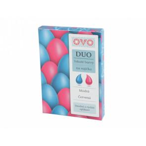 Barva na vajíčka DUO 2x20ml modrá/červená