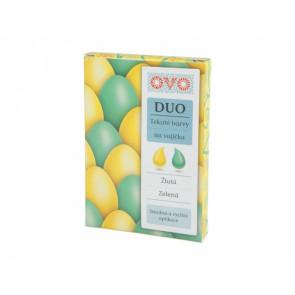 Barva na vajíčka DUO 2x20ml zelená/žlutá