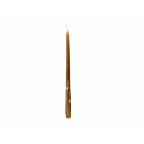 Svíčka vánoční HVĚZDY KONICKA 30cm metalická měděná