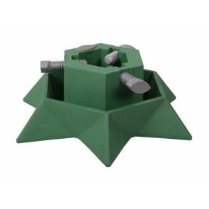 Stojan pod vánoční stromek STAR d40cm zelený/v13cm