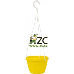 Květináč Lavaredo závěsný  - 25cm žlutý