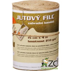 Jutový filc - zahradní bandáž 0,15x4m  ZC