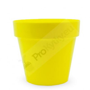 Obal na květináč CRYSTAL 14cm(žlutý) RYNE