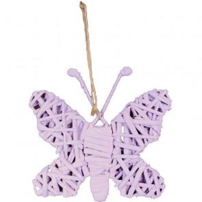 Motýl růžový 24x20cm K-MO