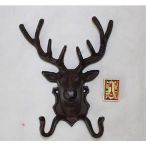 Háček jelení hlava litina 25x21x10cm