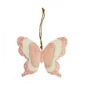 Motýl kovový menší