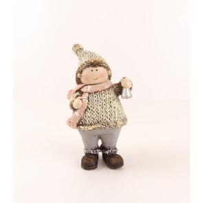 Figurka chlapec ve svetru se zvonkem