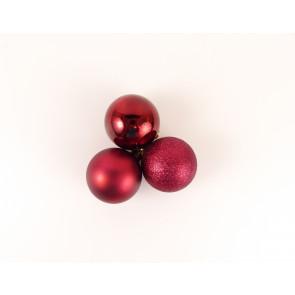 Vánoční ozdoby 12ks červené