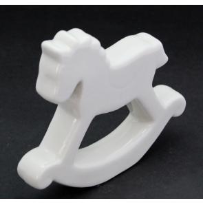 Koníček keramika bílá