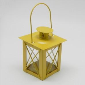 Lucerna kov 7x7x10cm žlutá