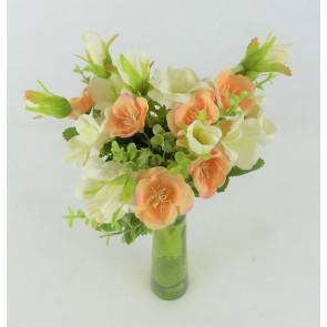 Umělá kytice pivoněk oranžová