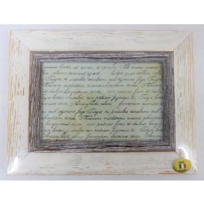 Dřevěný fotorámeček světlý 10x15cm